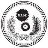 Símbolo industrial hecho en la República Dominicana libre illustration