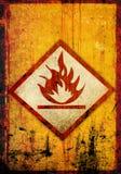 Símbolo inflamable Foto de archivo libre de regalías