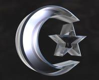 Símbolo islámico en el vidrio - 3d Ilustración del Vector