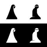 Símbolo islámico Logo Icon de la muestra del área del sitio del rezo ilustración del vector