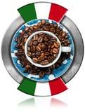 Símbolo italiano do café - Caffe Italiano Fotografia de Stock