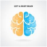 Símbolo izquierdo y derecho creativo del cerebro libre illustration