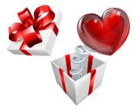 Símbolo Jack in the Box do coração Foto de Stock Royalty Free