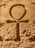 Símbolo jeroglífico egípcio antigo Ankh fotos de stock royalty free