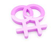 Símbolo lesbiano Fotografía de archivo