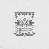 Símbolo linear del conocimiento Fotos de archivo libres de regalías