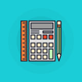 Símbolo liso da calculadora Fotografia de Stock Royalty Free