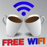 Símbolo livre e botões do wifi Foto de Stock Royalty Free