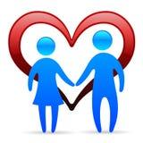 Símbolo Loving dos pares ilustração do vetor