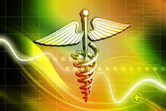 Símbolo médico ilustração stock