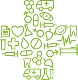 Símbolo médico Imagens de Stock