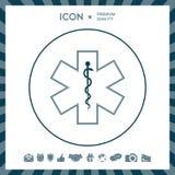 Símbolo médico da emergência - estrela do ícone da vida Imagem de Stock Royalty Free