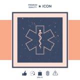 Símbolo médico da emergência - estrela do ícone da vida Fotos de Stock Royalty Free
