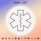 Símbolo médico da emergência - estrela da vida Fotos de Stock