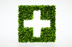 Símbolo médico de la ecología con el fondo blanco Fotografía de archivo