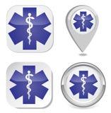 Símbolo médico de la emergencia Foto de archivo libre de regalías