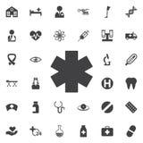 Símbolo médico de la emergencia stock de ilustración