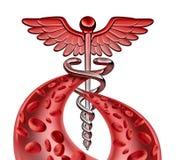 Símbolo médico de la sangre ilustración del vector