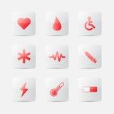 Símbolo médico de los iconos Fotografía de archivo libre de regalías