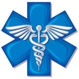 Símbolo médico del caduceo Imágenes de archivo libres de regalías