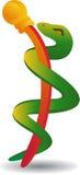 Símbolo médico del caduceo - estilizado Imágenes de archivo libres de regalías