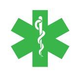 Símbolo médico, insignia Fotografía de archivo