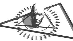 Símbolo místico esotérico stock de ilustración