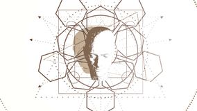 Símbolo místico esotérico ilustración del vector
