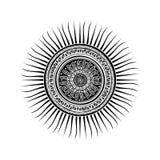 Símbolo maia do sol ilustração stock