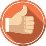 símbolo mano-como ilustración del vector