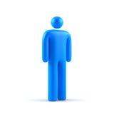 Símbolo masculino Fotografia de Stock Royalty Free
