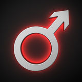 Símbolo masculino Imagens de Stock Royalty Free