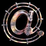 Símbolo mecánico del hierro en Foto de archivo