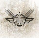 Símbolo militar de la fuerza aérea stock de ilustración