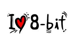 símbolo mordido 8 do amor ilustração royalty free