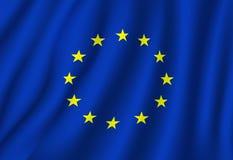 Símbolo nacional de la bandera del vector de la unión europea stock de ilustración