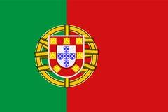 Símbolo nacional de la bandera de Portugal Fotografía de archivo libre de regalías