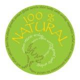 Símbolo natural del algodón Imagen de archivo