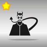 Símbolo negro del logotipo del botón del icono del diablo Foto de archivo libre de regalías