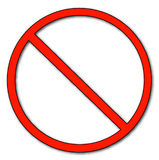 Símbolo no permitido Fotografía de archivo libre de regalías
