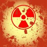 Símbolo nuclear oxidado Fotografia de Stock Royalty Free