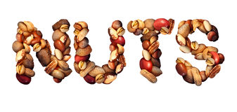 Símbolo Nuts Fotografia de Stock Royalty Free