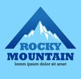 Símbolo o icono de la montaña rocosa Imagen de archivo libre de regalías