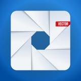 Símbolo objetivo del icono de la abertura simple de la cámara libre illustration