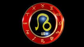 Símbolo occidental del zodiaco de Leo almacen de metraje de vídeo