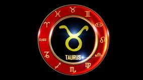 Símbolo occidental del zodiaco del tauro ilustración del vector