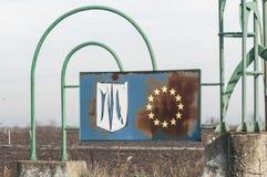 Símbolo oficial deteriorado da UE imagens de stock