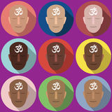 símbolo OM dos retratos Imagens de Stock Royalty Free