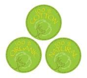 Símbolo orgânico e natural do algodão Fotografia de Stock Royalty Free