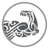 Símbolo ornamental de la aptitud del músculo Imagenes de archivo